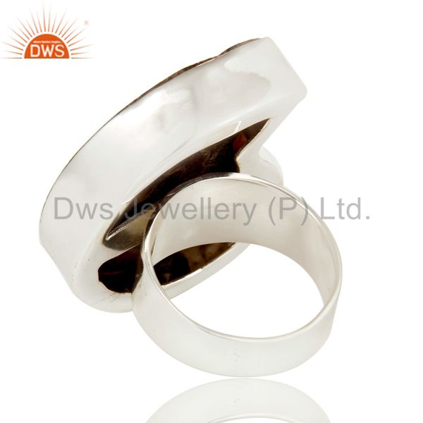 Wholesalers Lovely Simple Design Ammonite Statement Ring with 925 Sterling Silver
