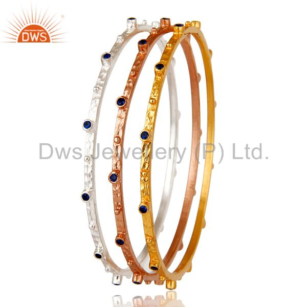 Rose gold yellow gold silver over zircon bangle fashion jewelry set Exporter