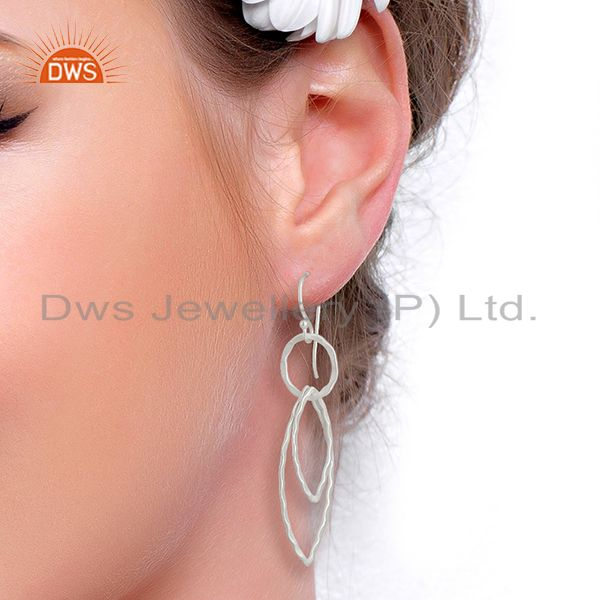 Wholesalers 925 Sterling Silver Plated Brass Earring Jewelry Manufacturer Supplier