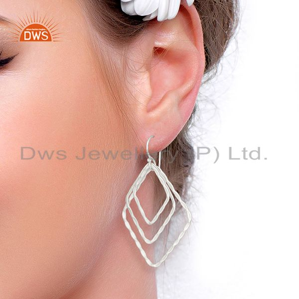 Wholesalers Handmade Silver Plated Designer Brass Earrings Jewelry Supplier