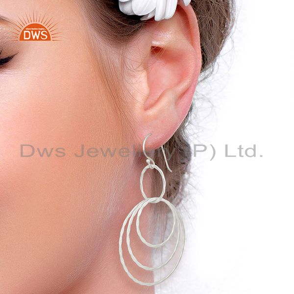 Wholesalers New Arrival Silver Plated Brass Fshion Earrings Jewelry Wholesale