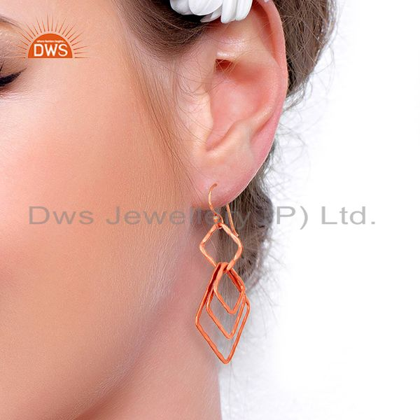 Wholesalers Handmade Rose Gold Plated Fashion Girls Earrings Supplier Jewelry