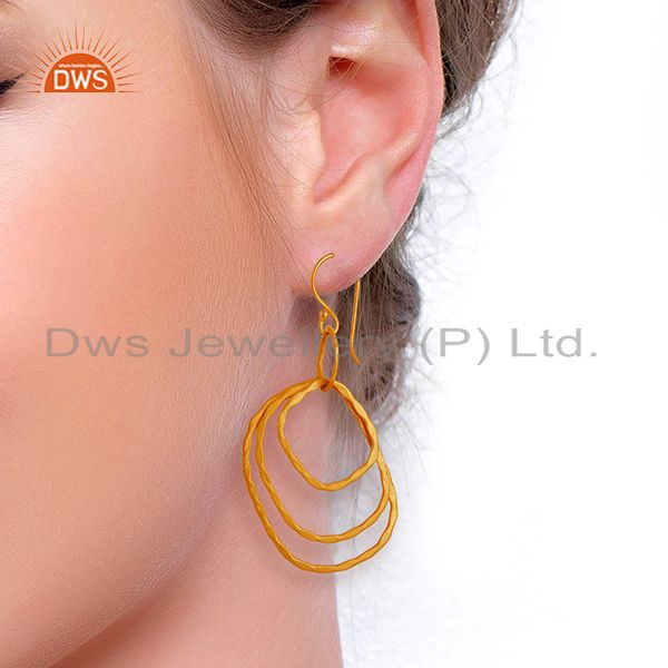 Wholesalers Designer Gold Plated Womens Fashion Earrings Jewelry Wholesale