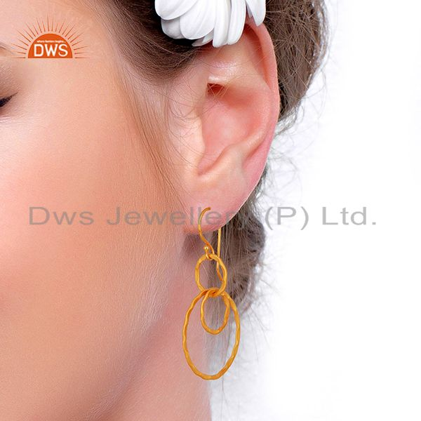 Wholesalers New Arrival Gold Plated Brass Designer Fashion Earrings Supplier