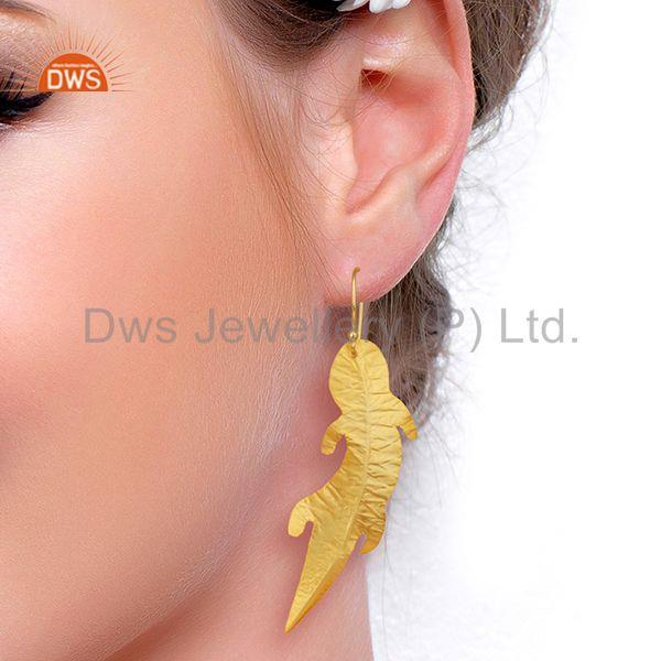 Wholesalers Customized Gold Plated Brass Fashion Dangle Earrings Manufacturer
