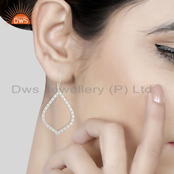 Wholesalers Silver Plated Brass Handmade Fashion Dangle Earrings Wholesale