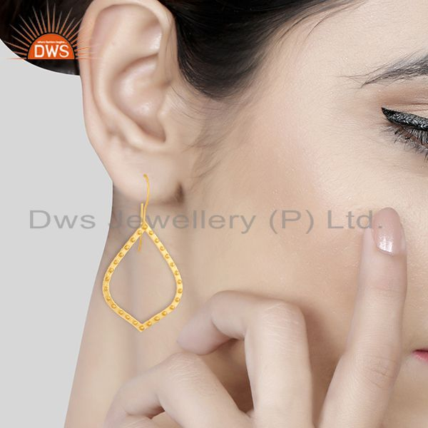 Wholesalers Indian Handcrafted Brass Gold Plated Fashion Earrings Manufacturer