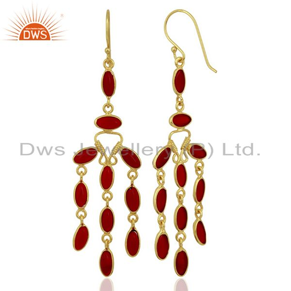 Hydro Red earring Statement Fashion Jewelry