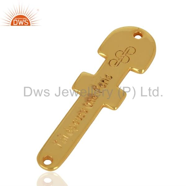 Wholesalers 925 Sterling Silver Gold Plated Handmade Connector Jewelry Supplier