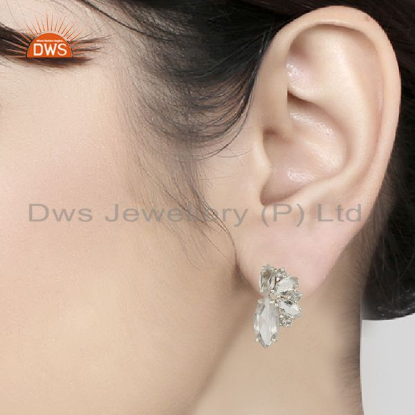 Wholesalers 925 Fine Silver Multi Gemstone Women Stud Earrings Manufacturers
