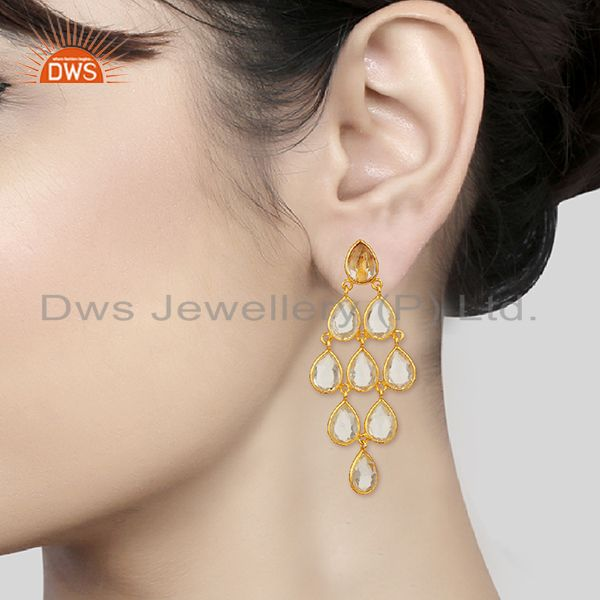 Wholesalers Crystal 925 Silver Earrings Customized Gemstone Jewelry Manufacturer