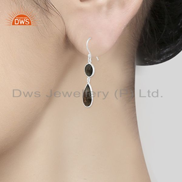 Wholesalers Labradorite Gemstone Sterling Silver Earring Manufacturer of Wedding Jewelry