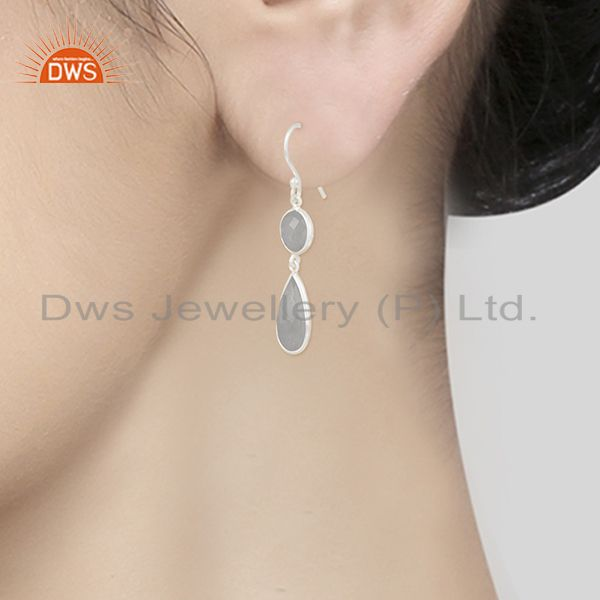 Wholesalers Rainbow Moonstone 925 Sterling Silver Earring Wholesale Supplier from India