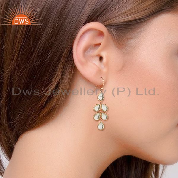 Wholesalers Rose Gold Plated 925 Sterling Silver Dangle Earrings Wholesale