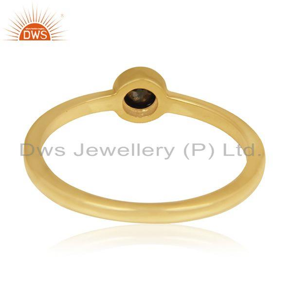 Wholesalers Pyrite Gemstone Gold Plated 92.5 Sterling Silver Handmade Ring Manufacturer