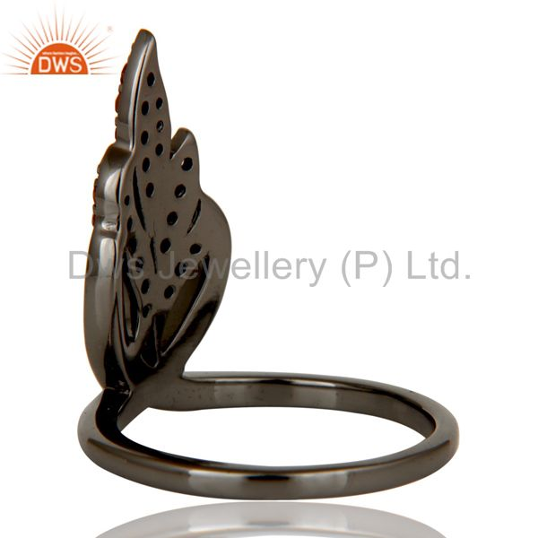 Wholesalers Oxidized Sterling Silver and Spessartit Gemstone Ring Beautiful Designer Jewelry