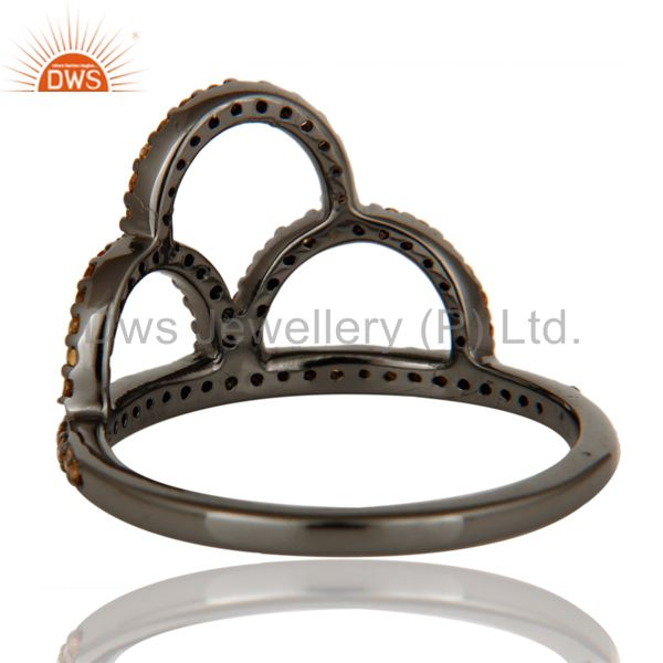 Wholesalers Crown Ring Spessartite and Oxidized Sterling Silver Designer Ring