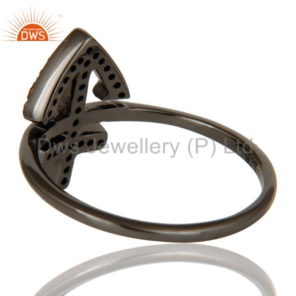 Wholesalers Spessartite and Oxidized Sterling Silver Cross Sign Statement Ring