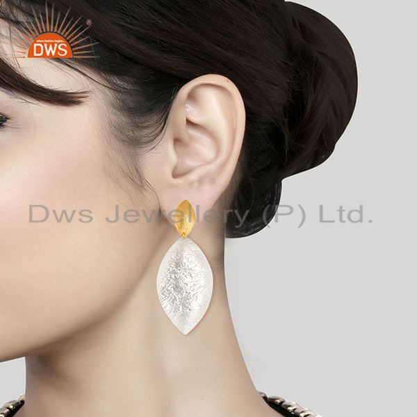 Wholesalers Beautiful Handmade Brass Drops Earrings Made In 14K Gold & Silver Plated