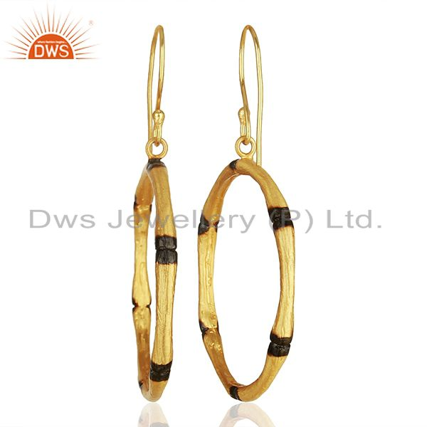 Wholesalers Handmade Round Brass Fashion Gold Plated Hoop Earrings Supplier