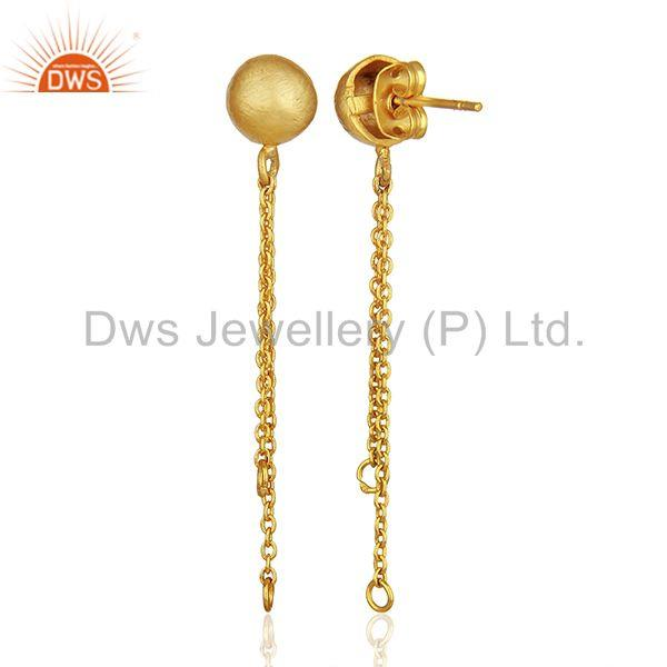 Wholesalers Handmade Gold Plated Brass Fashion Jewelry Findings Manufacturers