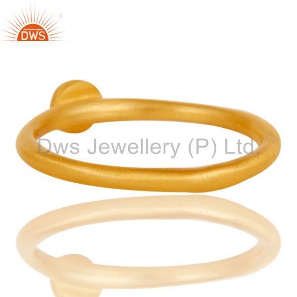 Wholesalers Fine Little Handmade Brass Ring with 18k Gold Plated & Cubic Zarconia