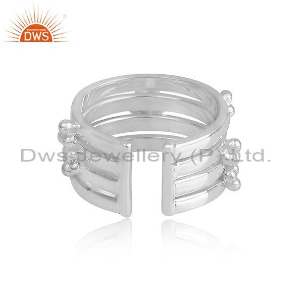 Handmade and handhammered fine sterling silver classic cuff