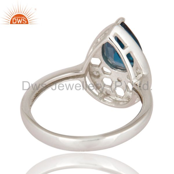 Wholesalers 925 Sterling Silver Blue Topaz Gemstone Solitaire Engagement Ring Jewelry Size 8