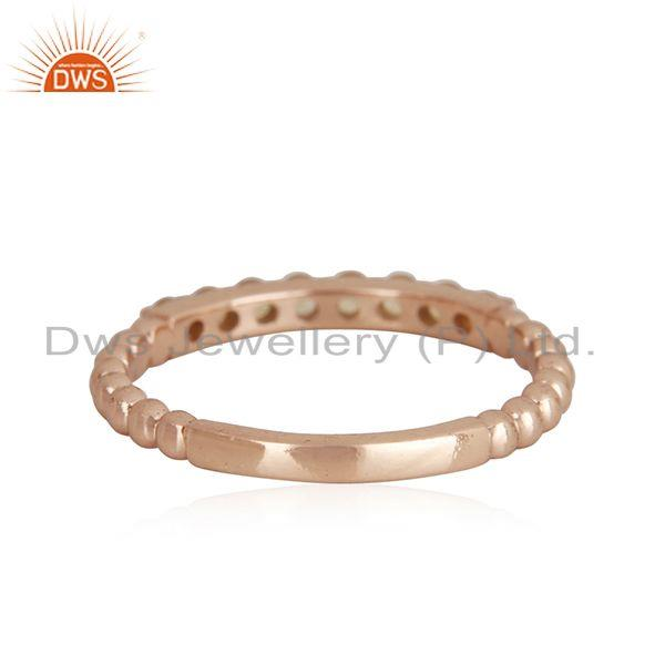 Rose Gold Plated 925 Silver Band Ring Manufacturer
