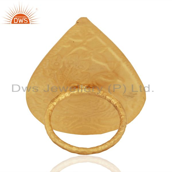 Wholesalers Gold Plated Brass Fashion Designer Enamel Ring Jewelry Supplier