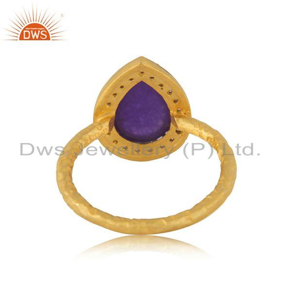 Wholesalers 14k Gold Plated 925 Silver Multi Gemstone Ring Jewellery Manufacturer India