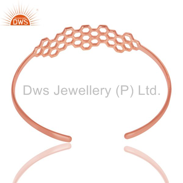 18k rose gold 925 silver handmade fashion openable palm bangle Exporter