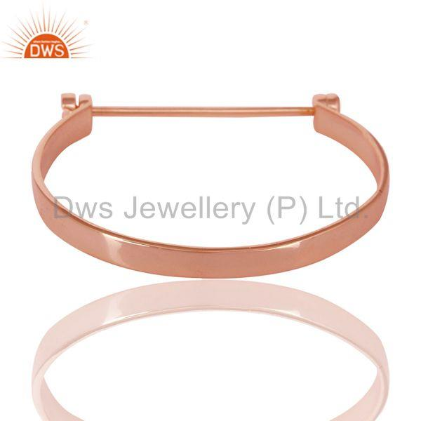 14k rose gold plated 925 silver handmade screw lock openable bangle Exporter