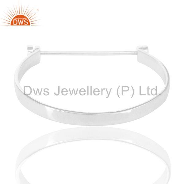 Beautiful solid sterling silver handmade screw lock openable bangle Exporter