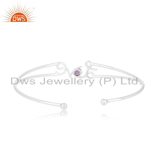Wholesalers Initial Love Design 925 Silver Cuff Bracelet Jewelry Manufacturer for Designers