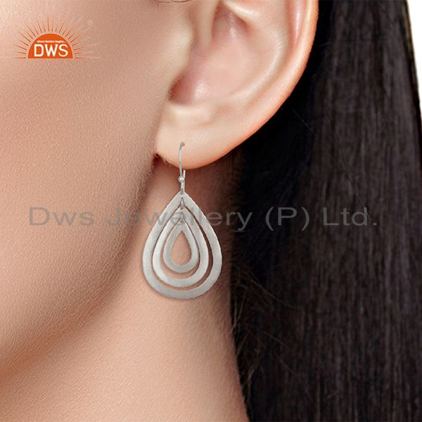 Wholesalers Handmade Silver Plated Brass Dangle Fashion Earrings Wholesalers