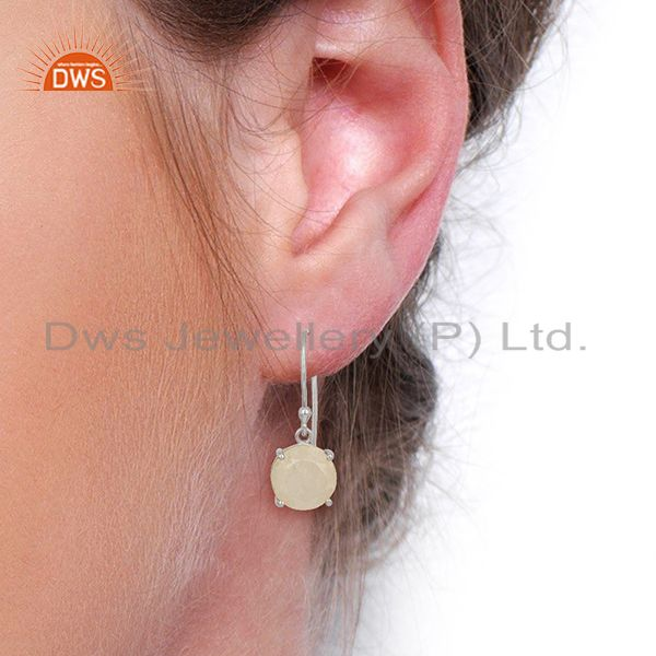 Wholesalers Rainbow Flat Shape Pefect Drop High Finish Wholesale Sterling Silver Earrings