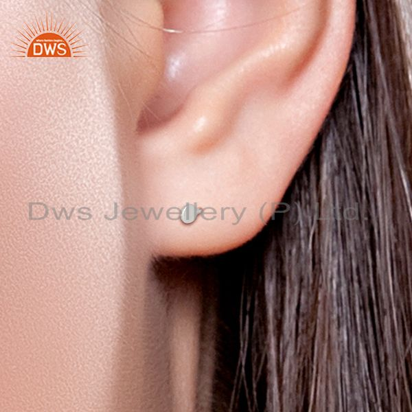 Wholesalers Unique Sterling Fine Silver Girls Stud Earrings Jewelry Manufacturer