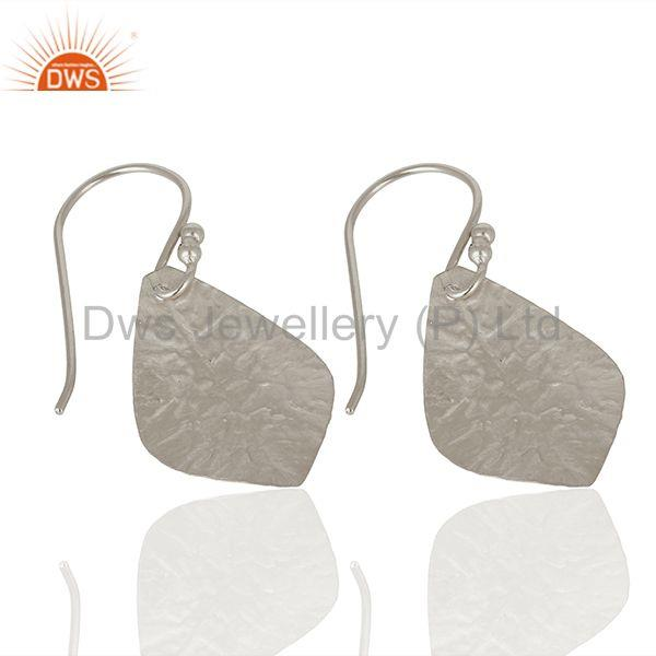 Wholesalers 925 Sterling Fine Silver Textured Plain Silver Earrings Manufacturer