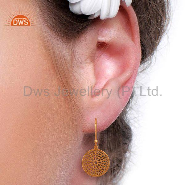 Wholesalers Round Gardens Inspired 92.5 Sterling Silver Rose Gold Plated Earring
