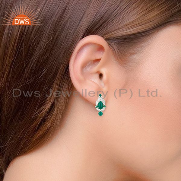 Wholesalers Solid 925 Silver Gold Plated Multi Gemstone Earrings Manufacturer