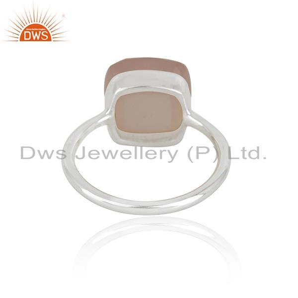 Wholesalers Rose Chalcedony Gemstone Handmade Sterling Silver Ring Manufacturers