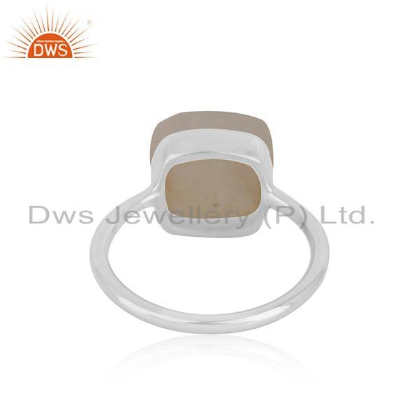Wholesalers Natural Rainbow Moonstone Fine Sterling Silver Ring Manufacturers