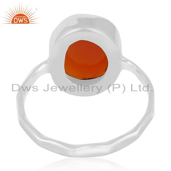 Wholesalers New Fine Sterling 92.5 Silver Chalcedony Gemstone Handmade Ring Manufacturer