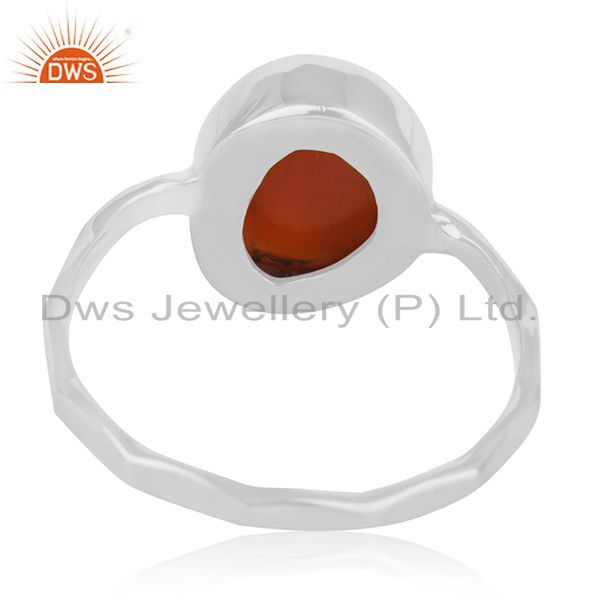Wholesalers Red Onyx Gemstone Sterling 925 Silver Ring Jewelry Manufacturer for Retailers