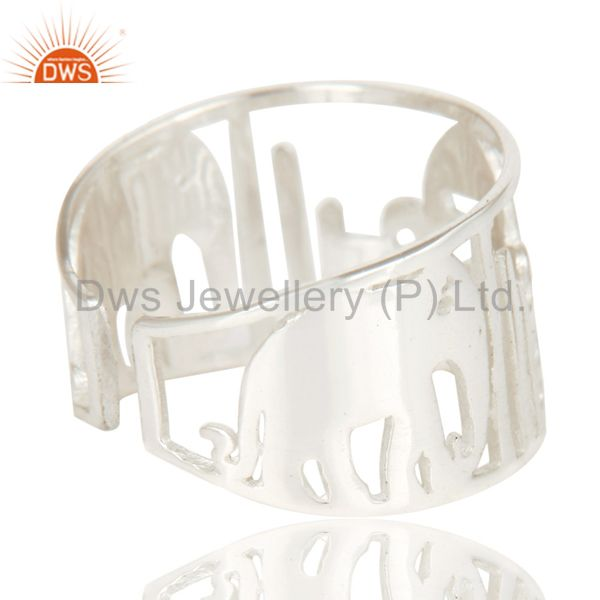 Wholesalers Solid 925 Sterling Silver Handmade Art Deco Fahion Ring Jewellery