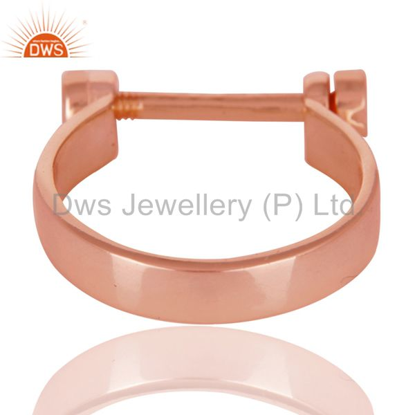 Wholesalers 14K Rose Gold Plated 925 Sterling Silver Handmade Lock Style Openable Ring