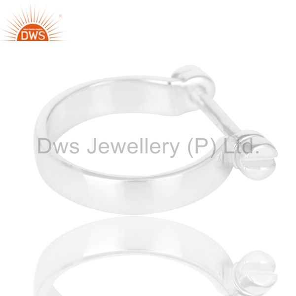 Wholesalers Beautiful Solid 925 Sterling Silver Handmade Lock Style Openable Ring Jewelry