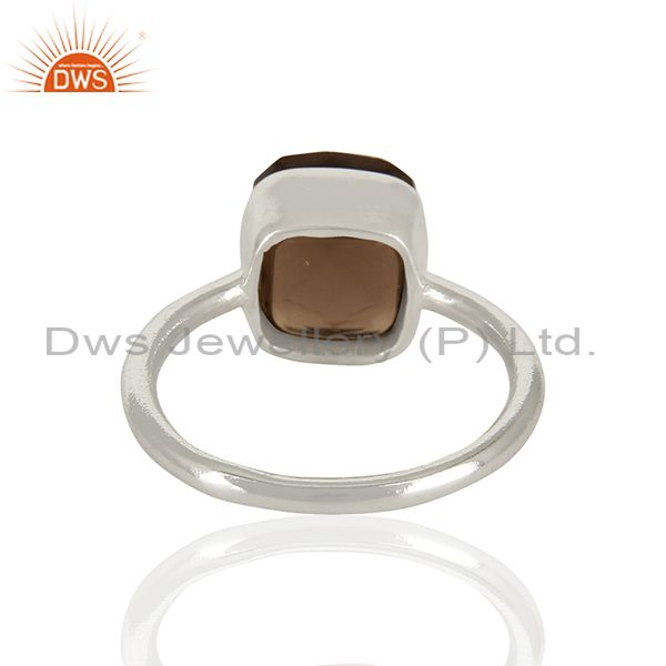 Wholesalers Smoky Quartz Gemstone 925 Sterling Silver Ring Jewelry Manufacturer