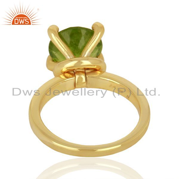 Wholesalers Natural Peridot Stackable 925 Sterling Silver Ring Gemstone Jewelry